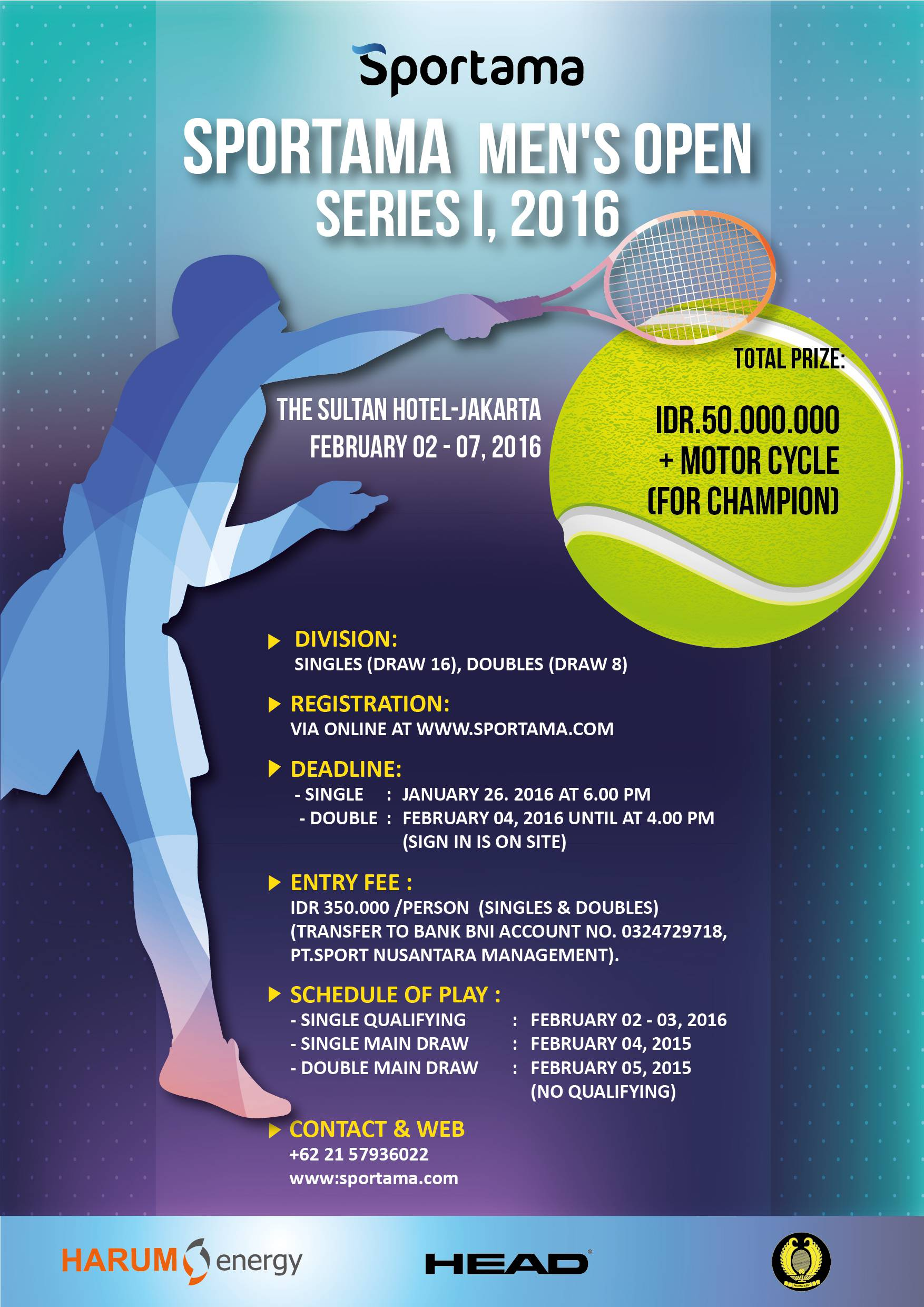 Sportama Men's Open Series I 2016