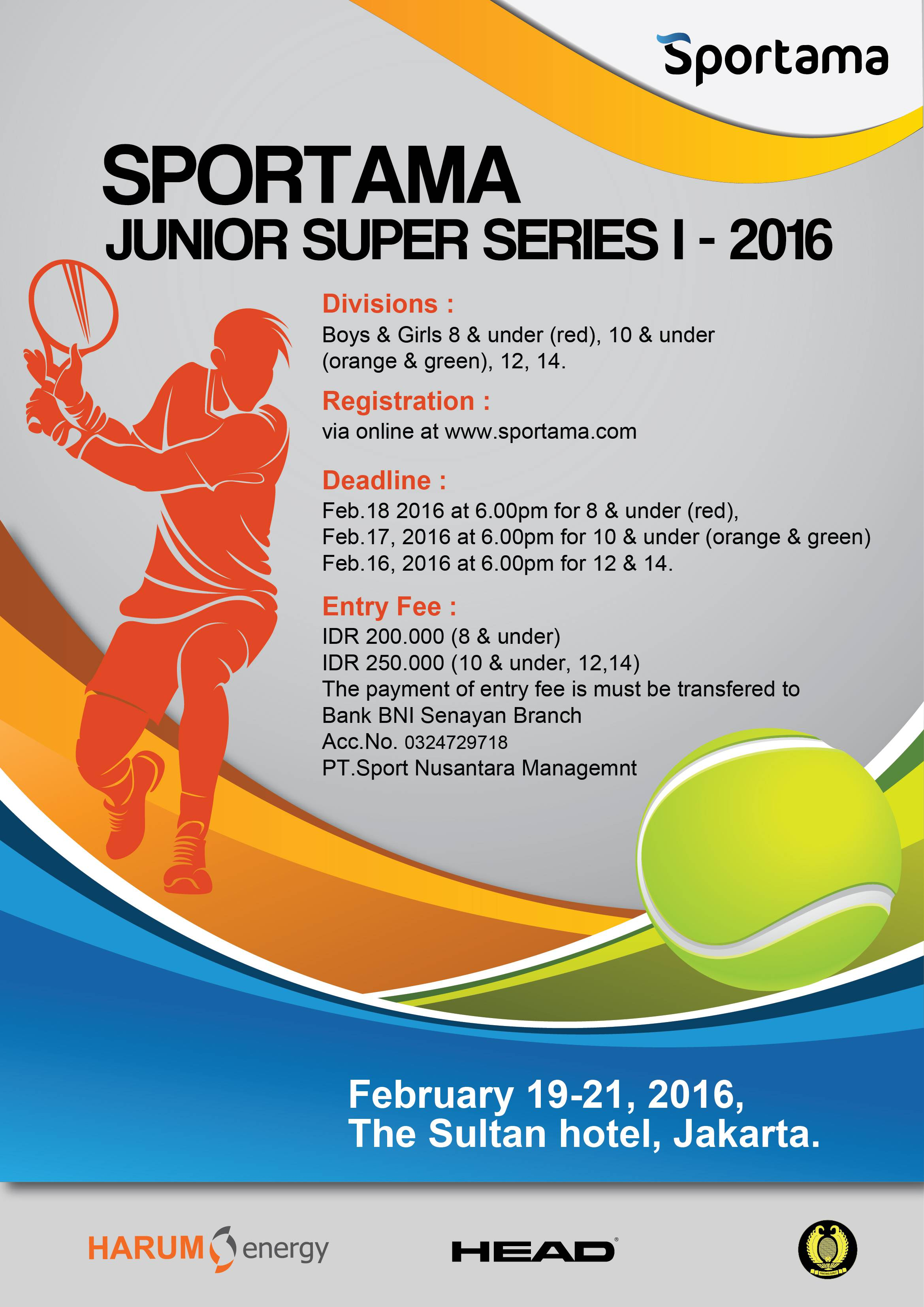 Sportama Junior Super Series I 2016